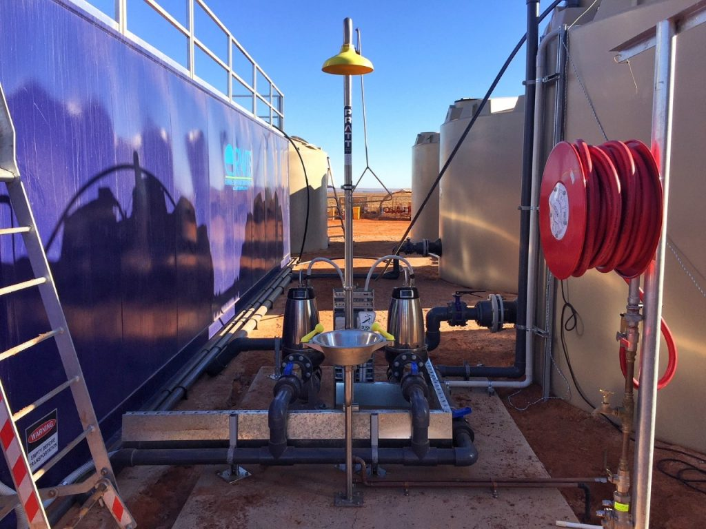 waste water treatment plant, Engineered waste water treatment plant for the OZ minerals project